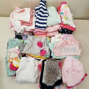 83 pc NEWBORN Baby Girl Lot Summer Shorts Rompers